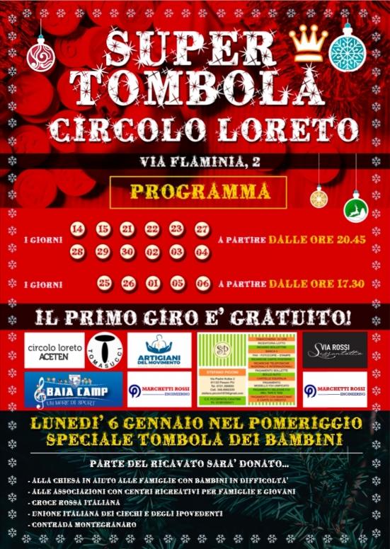 """""""Super Tombola"""" al Circolo di Loreto fino al 6 gennaio"""