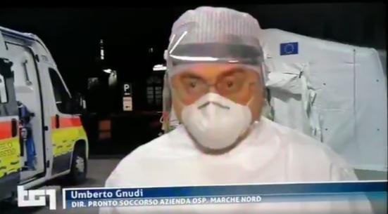L'aggiornamento sul TG di Rai 1 di Umberto Gnudi direttore del Pronto Soccorso di Pesaro - VIDEO