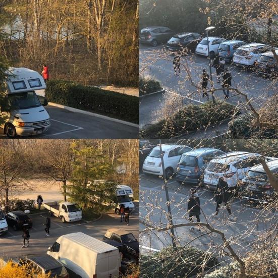 Assembramenti e non rispetto delle distanze, oggi nei pressi del Parco Miralfiore di Pesaro (purtroppo)