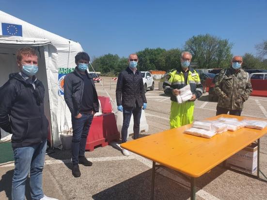 Donazione della Mtp Industrial e dei suoi collaboratori, consegnate mascherine per la collettività alla Protezione Civile di Pesaro