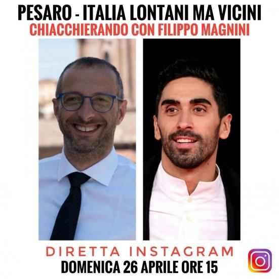 """""""Pesaro-Italia, lontani ma vicini"""": Ricci oggi in diretta Instagram alle 15 con Magnini"""