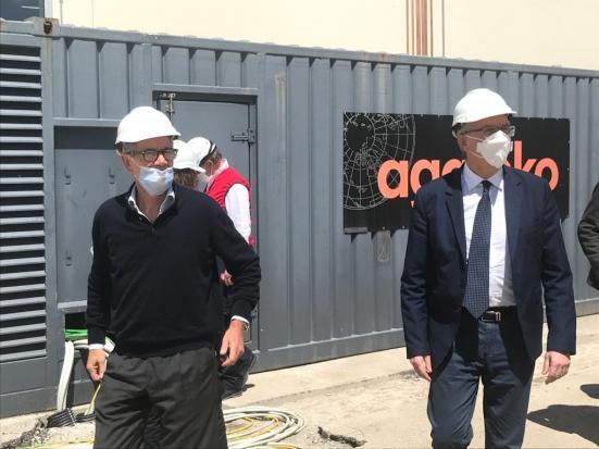 """Ceriscioli e Bertolaso al Covid Hospital di Civitanova: """"Saremo un esempio per la nazione"""""""