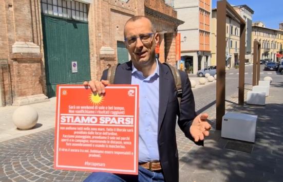 """""""Stiamo sparsi"""", nuovo appello del sindaco Ricci in vista del weekend - VIDEO"""