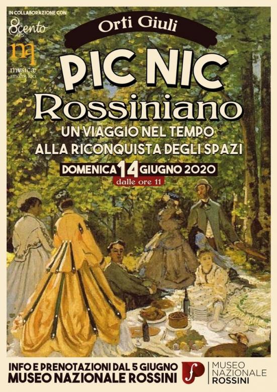 """""""Picnic rossiniano"""": domenica 14 giugno appuntamento agli Orti Giuli per festeggiare il primo anno del Museo Nazionale Rossini"""