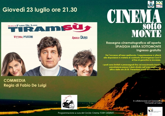 Il Cinema Sottomonte di Gabicce Mare prosegue con Tiramisù di Fabio De Luigi