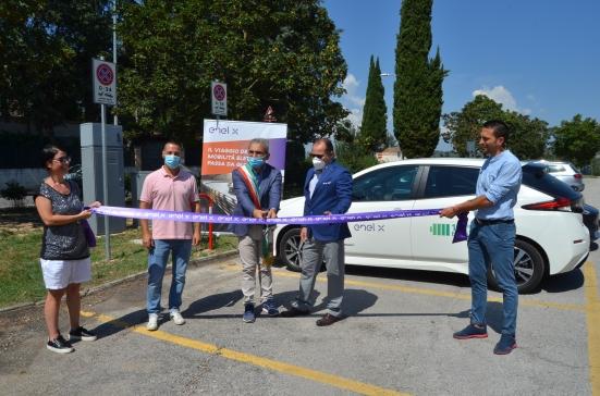 A Urbania inaugurate nuove strutture per la ricarica di veicoli elettrici