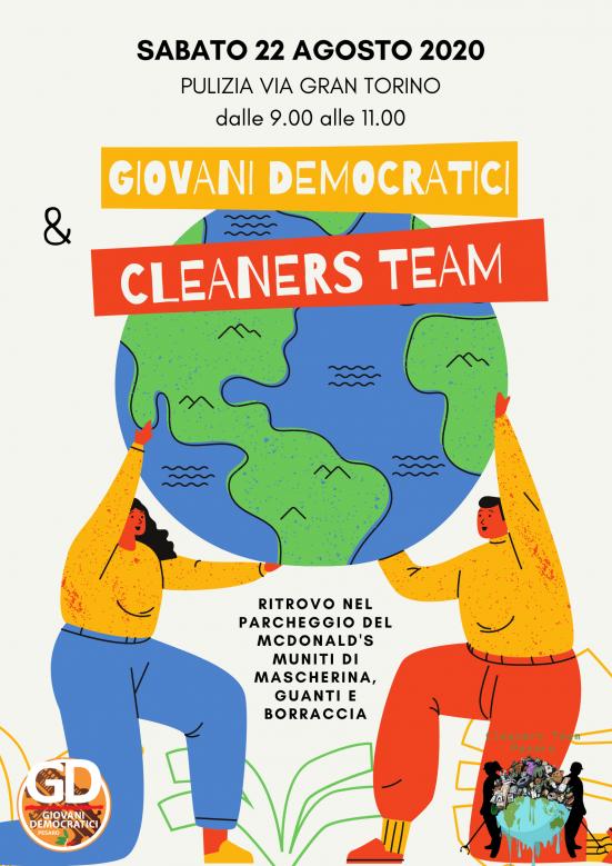 Giovani Democratici Pesaro e Cleaners Team uniti per la pulizia di via Gran Torino