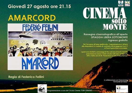 Cinema Sottomonte si chiuderà con Amarcord come omaggio ai cento anni di Fellini