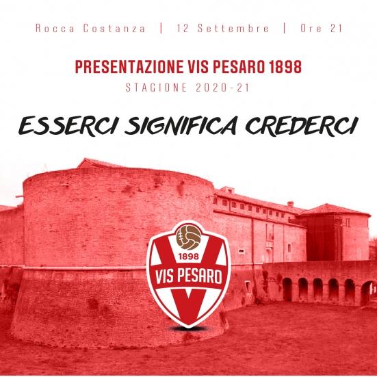 """""""Esserci significa crederci"""": sabato a Rocca Costanza la presentazione ufficiale della Vis Pesaro 2020/2021"""