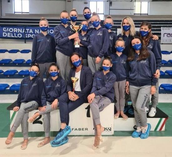 Gimnall Pesaro, a Fabriano il gradino più alto del podio con la squadra Allieve