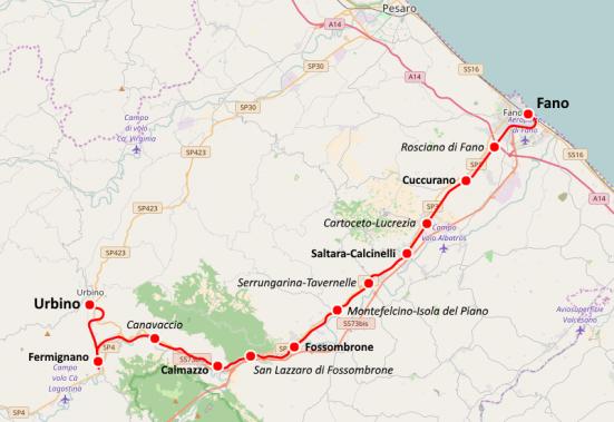 """Ferrovia Fano-Urbino, +Europa PU: """"Sì al percorso ciclabile, no al ripristino ferroviario"""""""