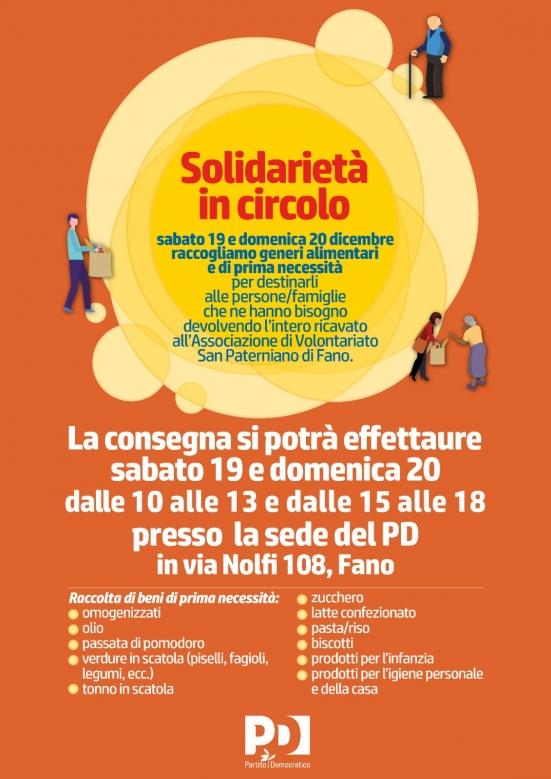 A Fano un weekend di «Solidarietà in circolo»: un'iniziativa di aiuto alimentare promossa dal PD