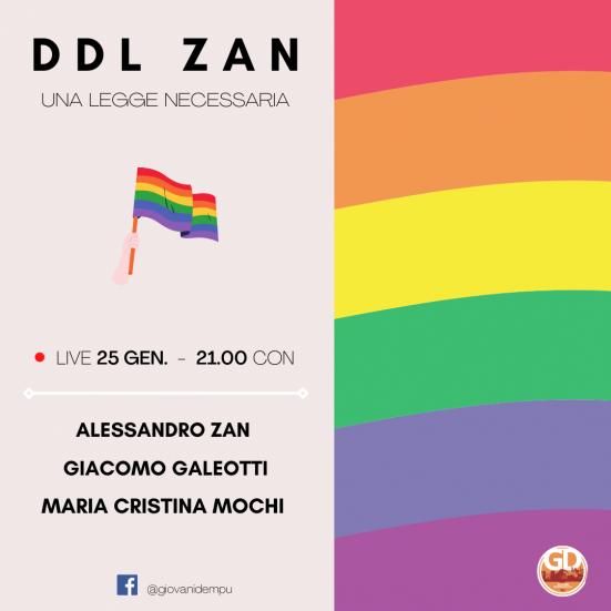 Giovani Democratici Pesaro e Urbino, lunedì alle 21:00 diretta facebook con il deputato Alessandro Zan