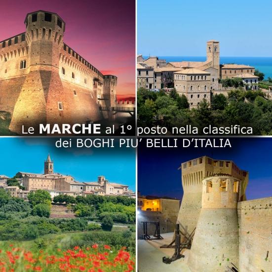 """Le Marche al 1° posto nella classifica dei """"Borghi più belli d'Italia"""": sono ben 28 in tutta la regione"""