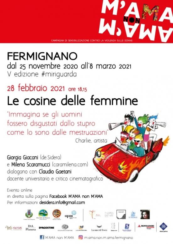 Domenica 28 febbraio l'associazione M'ama non M'ama propone un evento online sul corpo delle donne