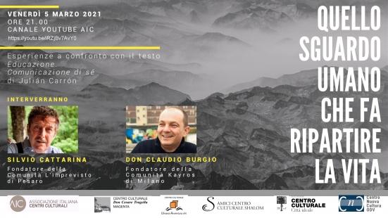 """""""Quello sguardo umano che fa ripartire la vita"""", domani l'evento on line organizzato dal Centro Culturale Città Ideale di Pesaro"""