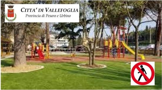 Chiudono parchi e giardini a Vallefoglia: «Necessario per evitare l'aumento dei contagi»
