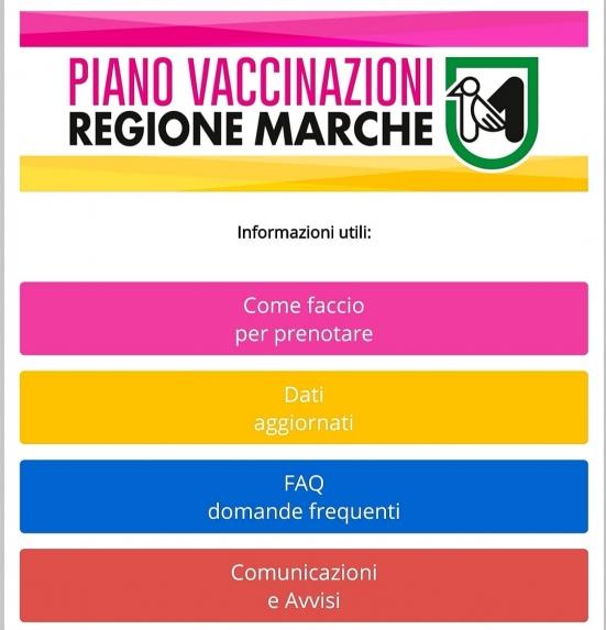 È online la sezione del sito della Regione Marche dedicata ai vaccini
