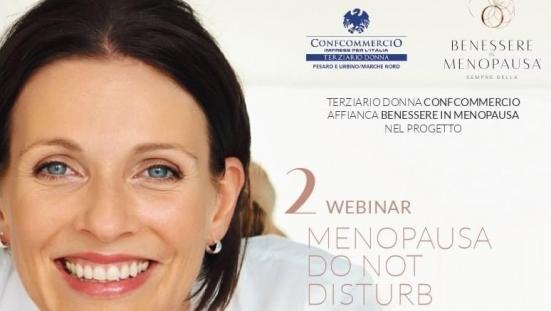 """Domenica il secondo webinar gratuito """"Menopausa do not disturb"""" di Terziario Donna Confcommercio"""