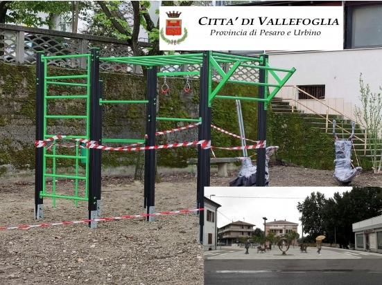 È quasi pronta l'area attrezzata per l'attività fisica all'aperto a Vallefoglia