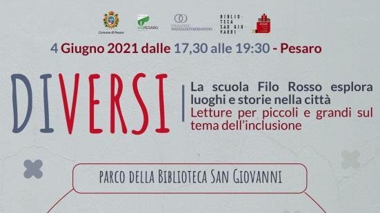 """""""DiVersi"""" le letture della scuola elementare Filo Rosso di Pesaro per riflettere sul tema dell'inclusione"""