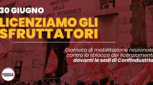 """Potere al Popolo, mercoledì la manifestazione per chiedere che """"ad essere licenziati siano gli sfruttatori"""""""
