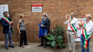Intitolato il Piazzale della Provincia all'ex presidente Vito Rosaspina, presenti anche la moglie Nadia e la figlia Rita