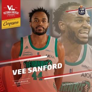 Vee Sanford è la nuova guardia della Vuelle