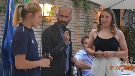 Donne, giovanissime e di talento: Francesca Sgorbini e Valentina Marra ospiti del Panathlon Club Pesaro