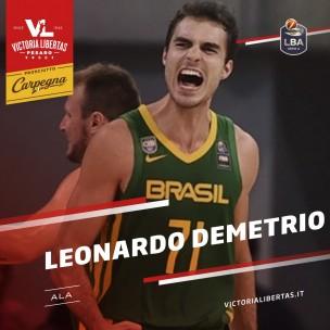 La Carpegna Prosciutto Basket Pesaro ufficializza anche Leonardo Demetrio