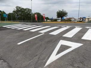 Sono in corso i lavori di rifacimento della segnaletica orizzontale di Montecchio e Bottega
