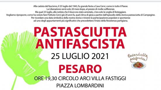 """""""Pastasciutta antifascista"""" domenica a Pesaro, appuntamento al circolo Arci di Villa Fastiggi"""